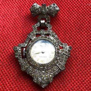 Vintage Antique Stratford rhinestone watch pin